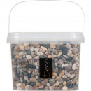 River pebbles 8-25mm 3.5 liters, brown assorted